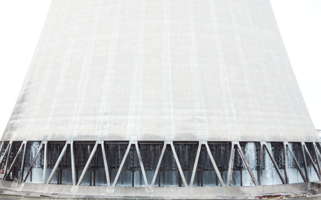 Close up image of Drax cooling tower