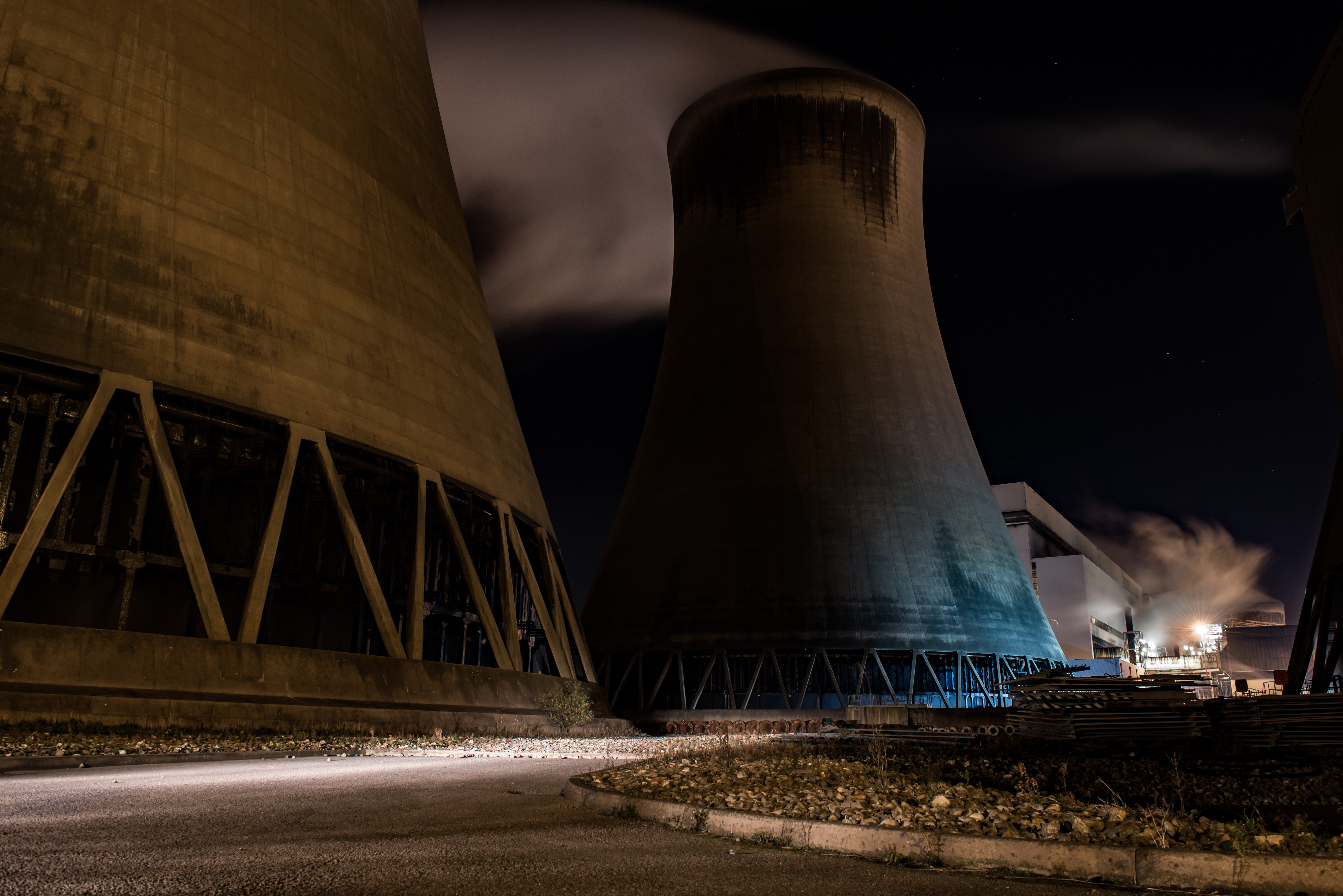 The nightshift at Drax Power Station