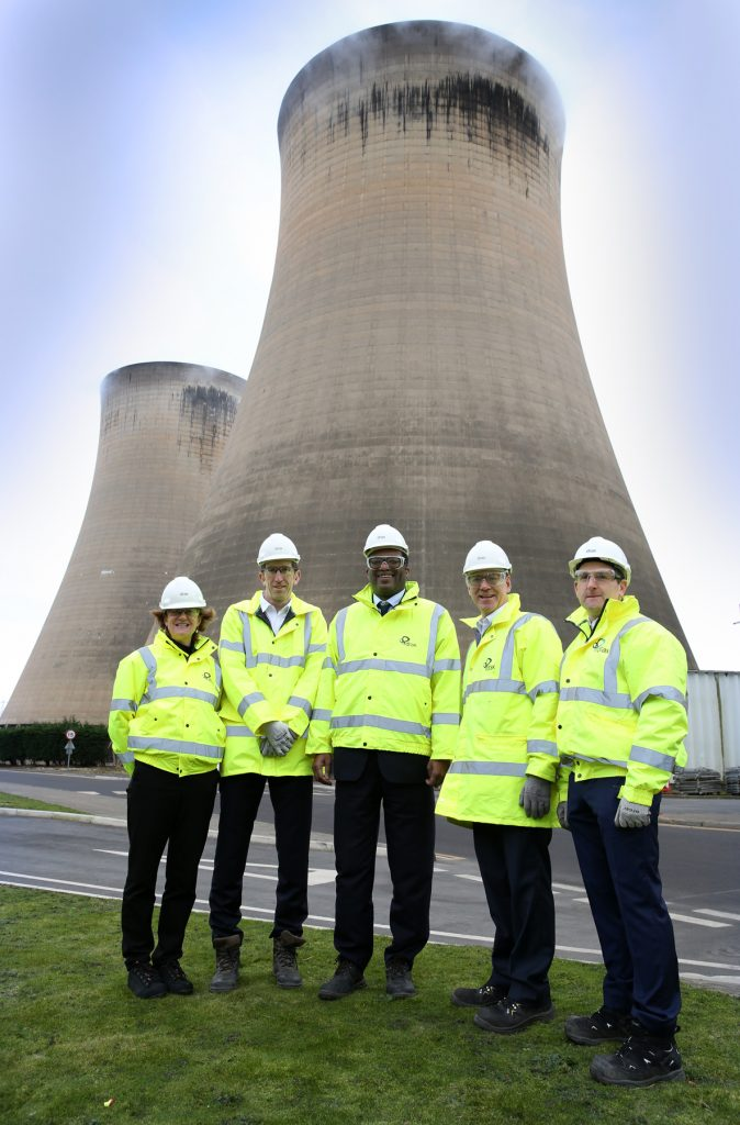 Clare Harbord, Drax Director of Corporate Affairs; Jason Shipstone, Drax VP of Innovation; Kwasi Kwarteng, Energy Minister; Will Gardiner, Drax Group CEO; Andy Koss, Drax CEO of Generation