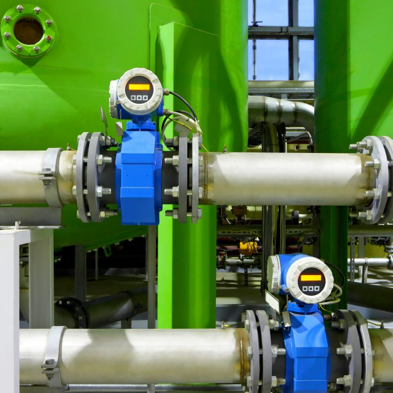 Pipework in a chemical factory