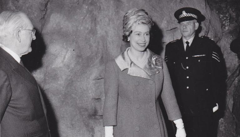 HRH Queen Elizabeth II opening Cruachan in 1965